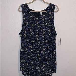 Old Navy Relaxed floral tank NWT